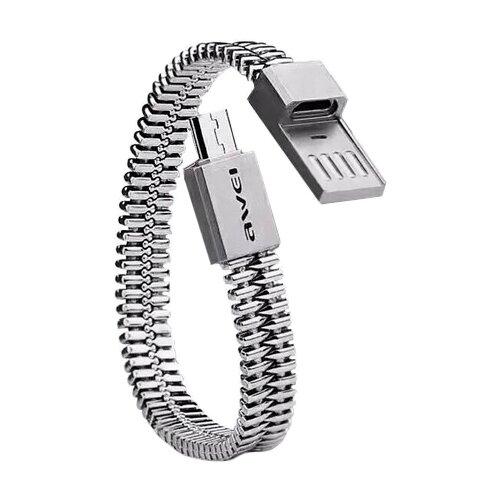 Купить Кабель Awei USB - microUSB (CL-86) 0.22 м серебристый