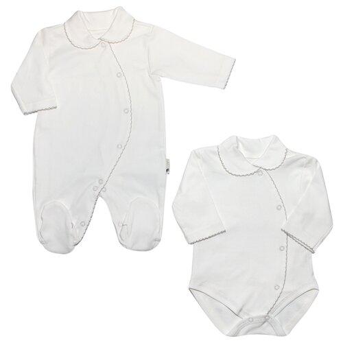 Комплект одежды Клякса размер 74, белыйКомплекты<br>