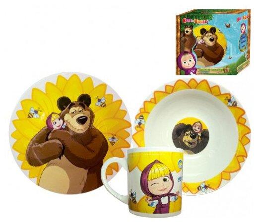 Набор для завтрака МФК Маша и Медведь Подсолнух 240 мл