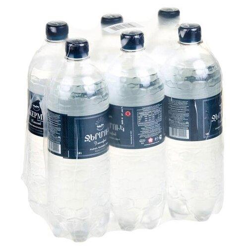 Минеральная природная вода Jermuk газированная, ПЭТ, 6 шт. по 1 л минеральная природная вода jermuk газированная алюминиевая банка 12 шт по 0 33 л