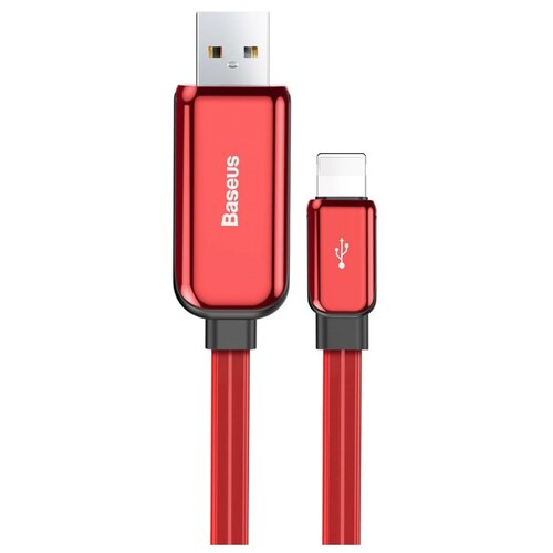 Кабель Baseus Glowing USB - Lightning (CALLG) 1 м красный