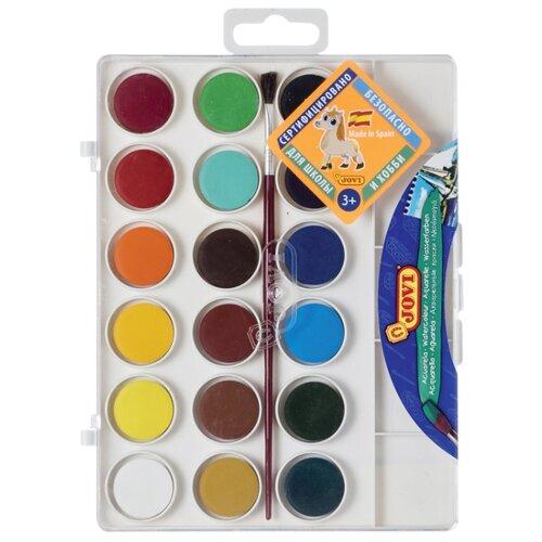 Купить JOVI Акварельные краски 18 цветов с кисточкой (800/18), Краски