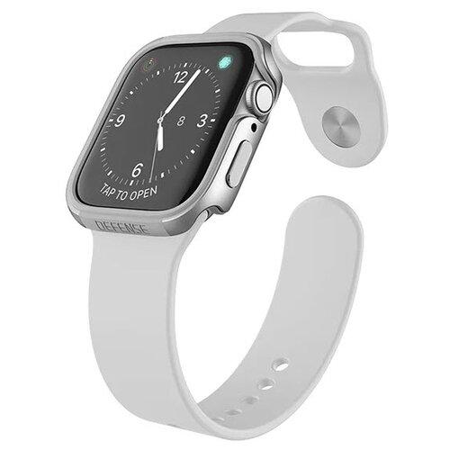 Чехол X-Doria Defense Edge для Apple Watch 40 мм silver