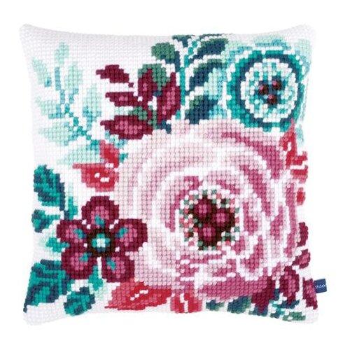 Купить Vervaco Набор для вышивания подушки Цветочный рай 40 x 40 см (PN-0153912), Наборы для вышивания