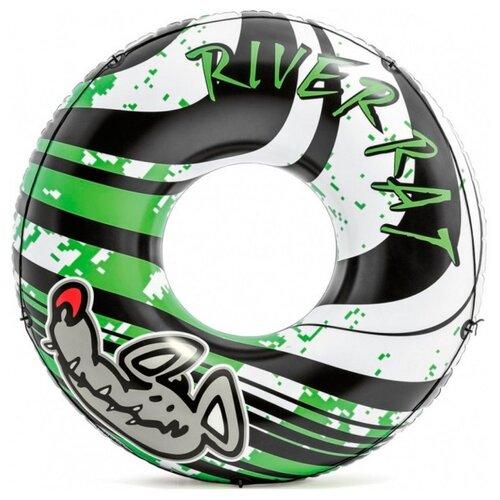 Фото - Круг Intex River Rat 122x122 см черный/зеленый надувной круг intex river rat 122см от 12лет 68209