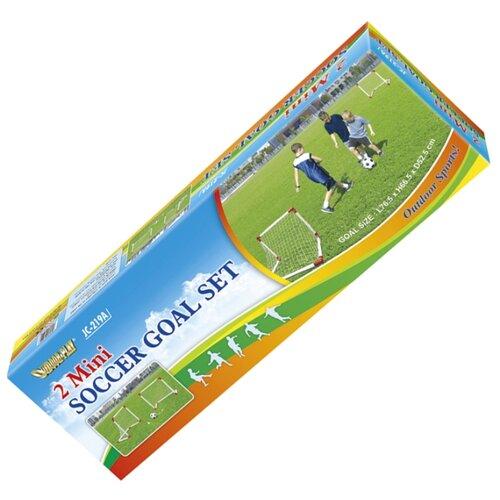 Ворота (комплект, 2 шт.) DFC GOAL219A, размер 76.5х66.5 см белый