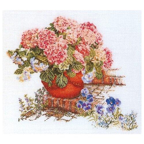 Купить Thea Gouverneur Набор для вышивания Гортензия и анютины глазки 45 х 50 см (2078), Наборы для вышивания