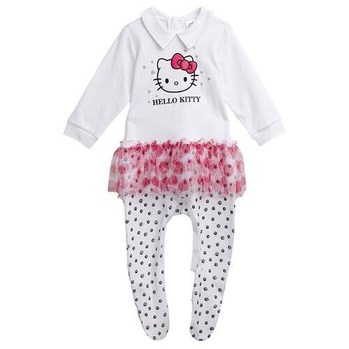 Купить Комбинезон playToday размер 56, белый/розовый/черный, Комбинезоны