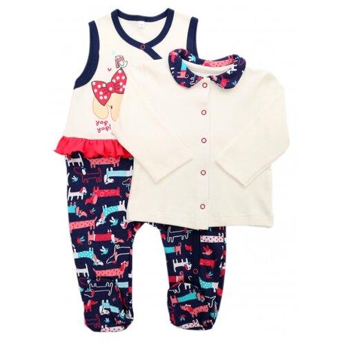 Комплект одежды Sonia Kids размер 68, белый/темно-синийКомплекты<br>