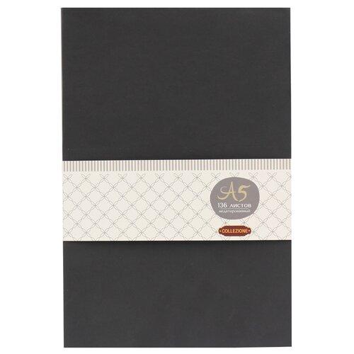 Купить Ежедневник Collezione Колор-1недатированный, искусственная кожа, А5, 136 листов, черный/красный срез, Ежедневники, записные книжки