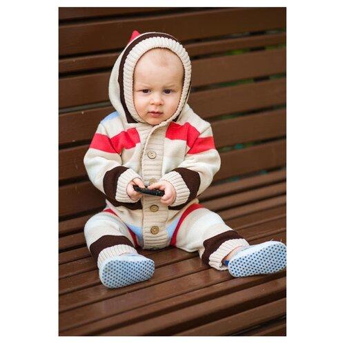 Комбинезон Лапушка размер 86, бежевый комбинезон утепленный для девочки batik торопыжка цвет розовый 147 19з размер 86