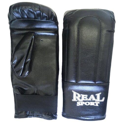 Боксерские перчатки Realsport тренировочные S черный