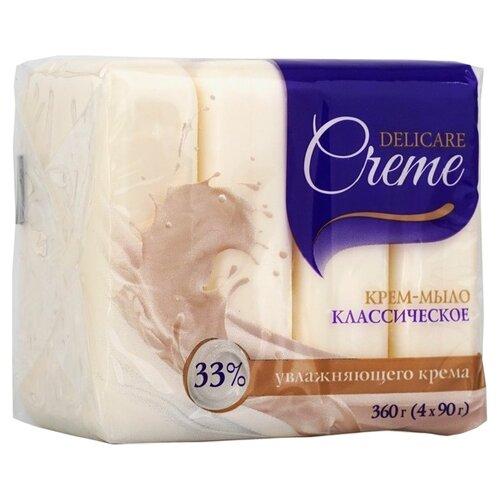 Крем-мыло кусковое Delicare Классическое, 90 г, 4 шт. недорого