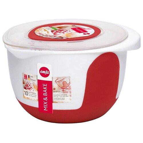 Миска EMSA Mix&Bake 508019 белый/красныйМиски и дуршлаги<br>