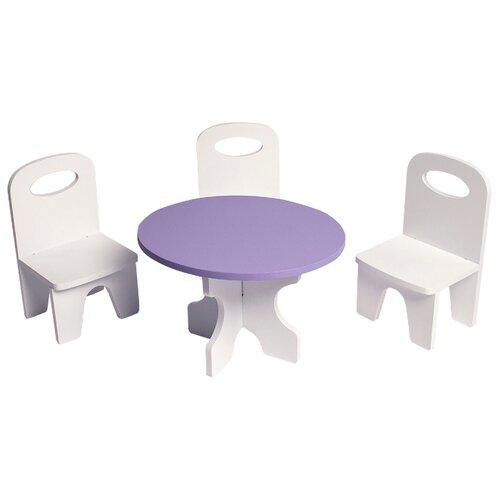 Купить PAREMO Набор мебели для кукол Классика (PFD120-39/PFD120-37/PFD120-41/PFD120-38/PFD120-40) белый/фиолетовый, Мебель для кукол