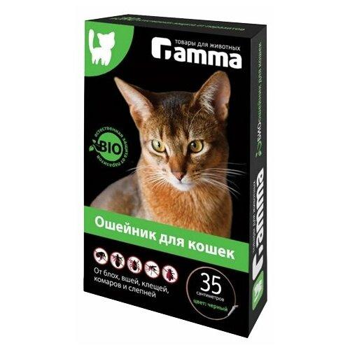 Гамма ошейник от блох и клещей Bio для кошек, 35 см, черный ошейник для кошек beaphar от блох и клещей 35см