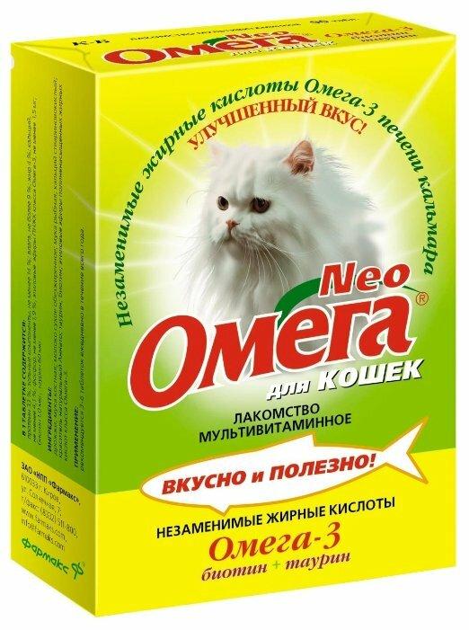 Добавка в корм Омега Neo для кошек с биотином и таурином