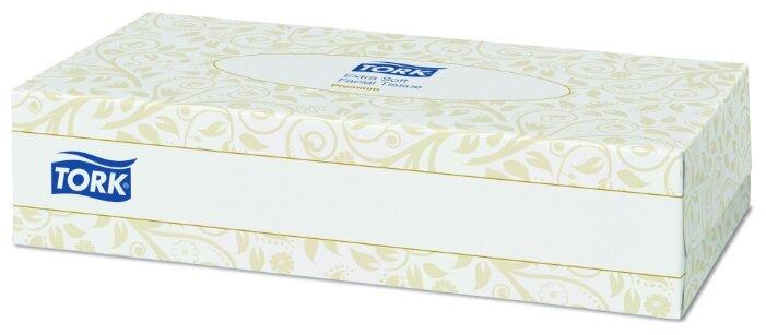 Салфетки TORK косметические для лица ультрамягкие 120380 21 х 19 100 шт.