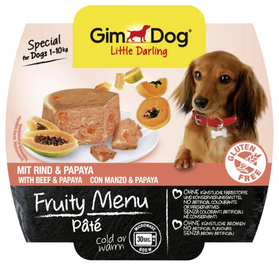 Корм для собак GimDog Little Darling Fruity Menu паштет из говядины с папайей