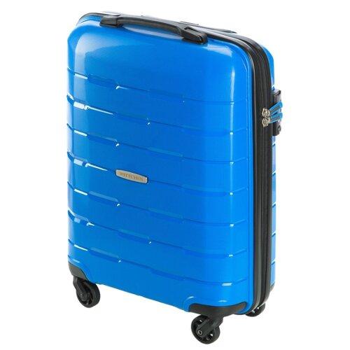 Чемодан WITTCHEN Travel Lux 56-3T-721-95 29 л, синийЧемоданы<br>