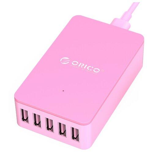 Сетевая зарядка ORICO CSE-5U розовыйЗарядные устройства и адаптеры<br>