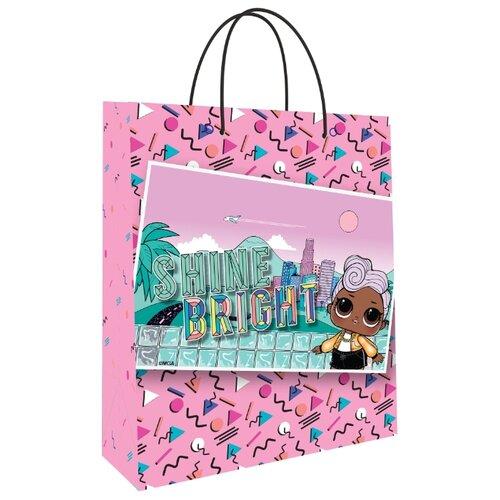 Пакет подарочный ND Play L.O.L. 280454 18х22,7х10 см розовый с картинкой