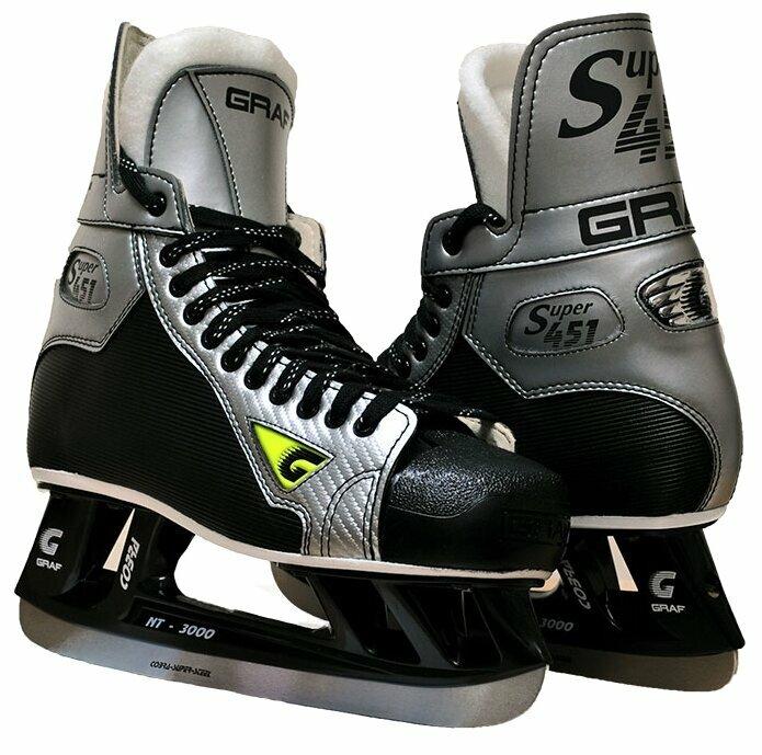Коньки хоккейные GRAF Supra 451 Cobra NT-3000 SR взрослые(11,0)