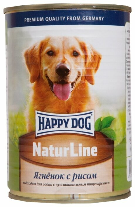 Корм для собак Happy Dog NaturLine ягненок с рисом 20шт. х 400г