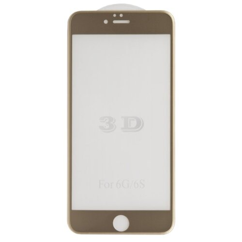 Защитное стекло Liberty Project 3D Tempered Glass с рамкой для Apple iPhone 6/6s Plus золотистый liberty project tempered glass защитное стекло для nokia 630 clear 0 33 мм