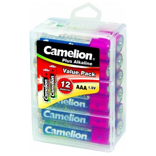 Батарейка Camelion Plus Alkaline AAA 12 шт блистерБатарейки и аккумуляторы<br>