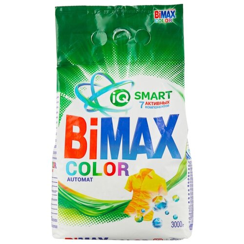 Стиральный порошок Bimax 100 цветов Color Compact (автомат) 3 кг пластиковый пакет