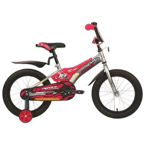 Детский велосипед Novatrack Flightline 16 (2019) серый (требует финальной сборки)