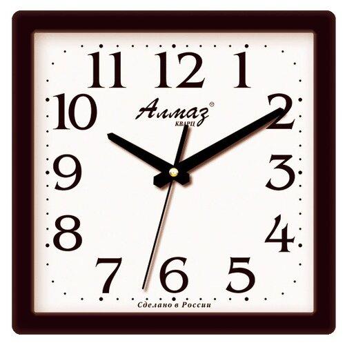 Часы настенные кварцевые Алмаз M01/M12/M41 черный / белый часы настенные кварцевые алмаз h01 белый черный