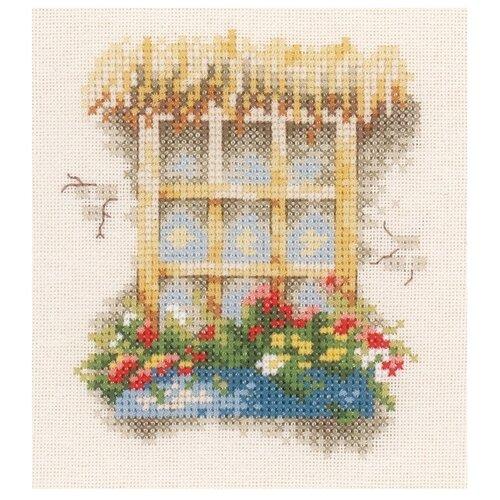 Купить Lanarte Набор для вышивания Окно в цветах 11 x 12 см (0162524-PN), Наборы для вышивания