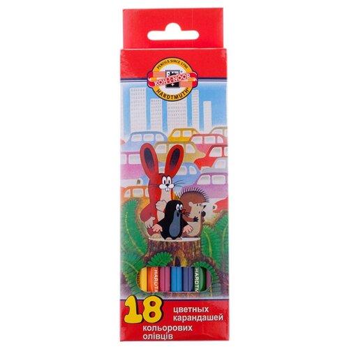 Купить KOH-I-NOOR Карандаши цветные Крот, 18 цветов (3653018026KSRV), Цветные карандаши