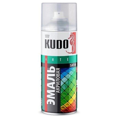 Эмаль KUDO универсальная Satin RAL RAL 1018 цинково-желтый 520 мл
