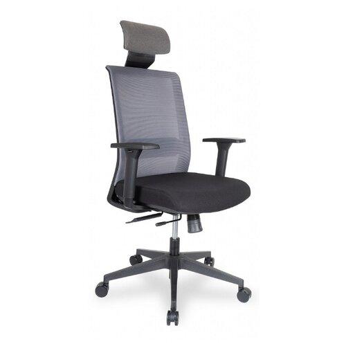 Компьютерное кресло College CLG-429 MBN-A офисное, обивка: текстиль, цвет: серый/черный компьютерное кресло college clg 619 mxh b офисное обивка текстиль цвет бежевый