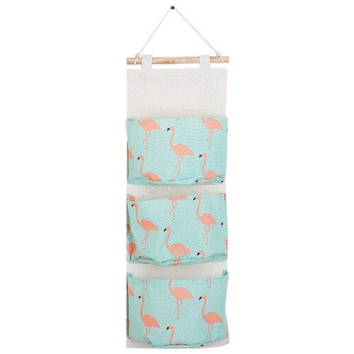 Фото - Ukid MARKET Органайзер с карманами подвесной «Фламинго», 3 отделения, 20×60 см ukid market органайзер для одежды кармашки настенные человек паук 45х18 см