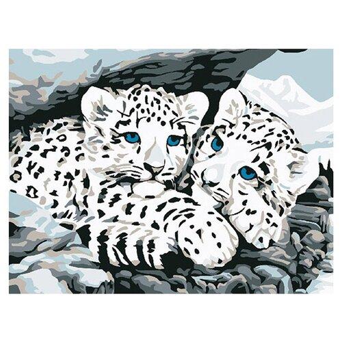 Molly Картина по номерам Снежные барсы 15х20 см (KH0030/1)Картины по номерам и контурам<br>