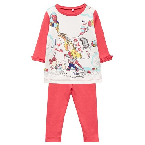 Комплект одежды Sonia Kids размер 80, белый/розовыйКомплекты<br>