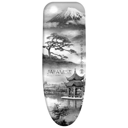 Чехол для гладильной доски Valiant Japanese Collection большой 143х54 см Japanese Black