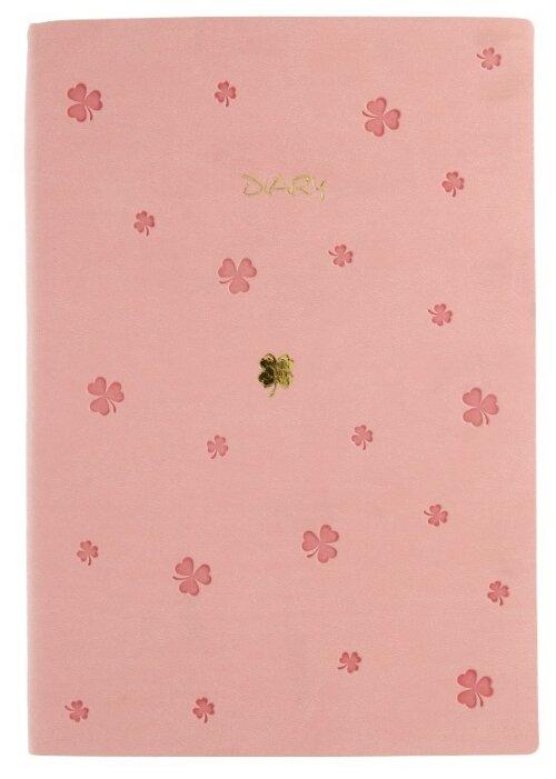 Ежедневник Канц-Эксмо Be Lucky недатированный, искусственная кожа, А5, 136 листов, персиковый