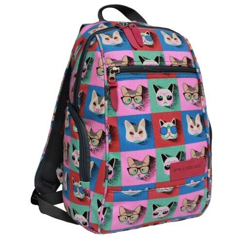Рюкзак RISE М-362-кр розовый/голубой rise рюкзак м 340 эк серый
