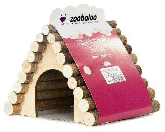 Домик для грызунов, хорьков Zoobaloo Треугольный 18х15х15 см