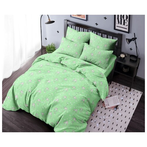 Купить Ночь Нежна Детское Постельное белье Borgeze Цвет: Зеленый br11257 (110х140 см), Постельное белье и комплекты