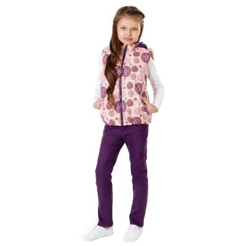 Купить Жилет V-Baby 51-043 размер 140, розовый, Куртки и пуховики