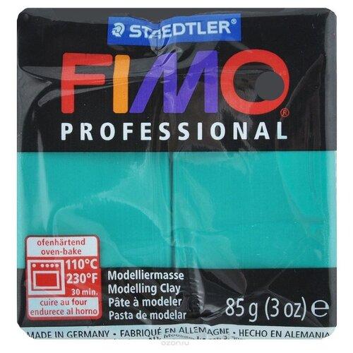 Купить Полимерная глина FIMO Professional запекаемая 85 г чисто-зеленый (8004-500), Глина