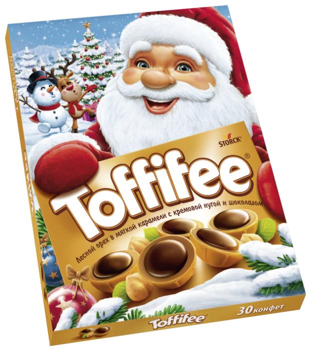 Купить Набор конфет Toffifee Санта-Клаус 250г по низкой цене с доставкой из Яндекс.Маркета (бывший Беру) - Классные подарки до 1000 руб