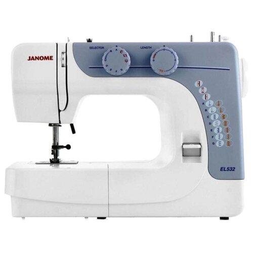 Швейная машина Janome EL532, белый/серый