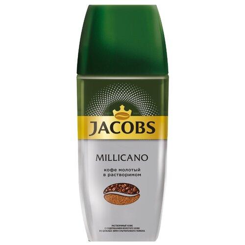 цена Кофе растворимый Jacobs Monarch Millicano с молотым кофе, стеклянная банка, 95 г онлайн в 2017 году